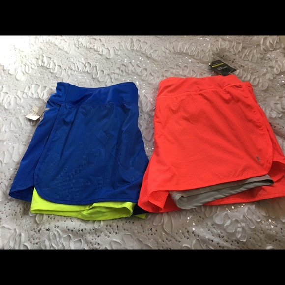 danskin now shorts 2 nwt semi fitted neon colors poshmark